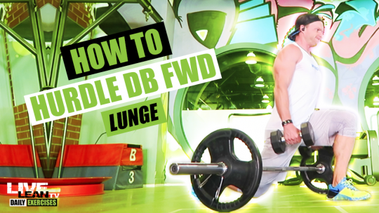 How To Do A HURDLE DUMBBELL FORWARD LUNGE | Exercise Demonstration Video and Guide