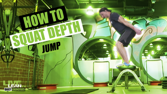 How To Do A SQUAT DEPTH JUMP | Exercise Demonstration Video and Guide