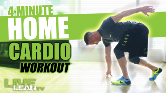 The 4 Minute Home Cardio Workout That Scorches Fat | Tabata