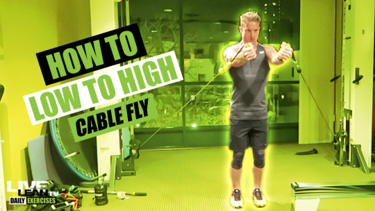 How To Do A LOW TO HIGH CABLE FLY   Exercise Demonstration Video and Guide