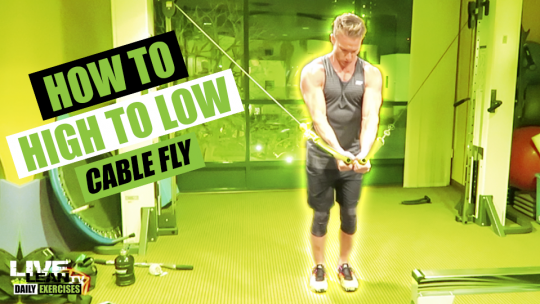 How To Do A HIGH TO LOW CABLE FLY   Exercise Demonstration Video and Guide