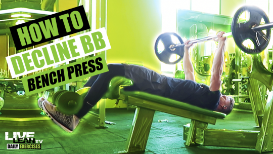 How To Do A DECLINE BARBELL BENCH PRESS   Exercise Demonstration Video and Guide