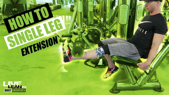 How To Do A SINGLE LEG EXTENSION | Exercise Demonstration Video and Guide