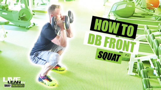 How To Do A DUMBBELL FRONT SQUAT | Exercise Demonstration Video and Guide