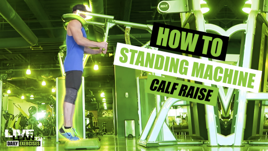 How To Do STANDING MACHINE CALF RAISES (TOES STRAIGHT, TOES OUT, TOES IN) | Exercise Demo Video