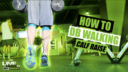 How To Do DUMBBELL WALKING CALF RAISES   Exercise Demonstration Video and Guide