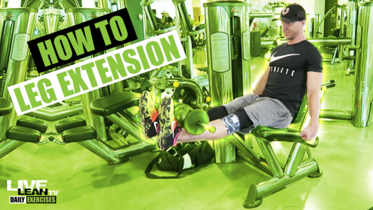 How To Do A LEG EXTENSION | Exercise Demonstration Video and Guide