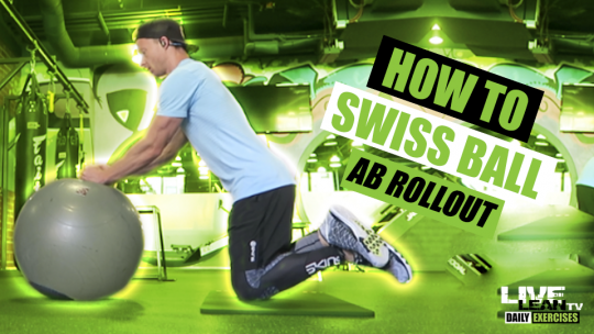 How To Do A SWISS BALL AB ROLLOUT   Exercise Demonstration Video and Guide