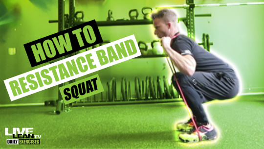 How To Do A RESISTANCE BAND SQUAT | Exercise Demonstration Video and Guide