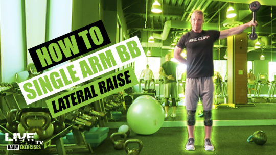 How To Do A STANDING SINGLE ARM BARBELL LATERAL RAISE | Exercise Demonstration Video and Guide