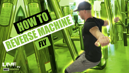 How To Do A REVERSE MACHINE FLY | Exercise Demonstration Video and Guide