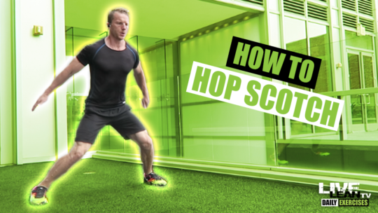 How To Do The HOP SCOTCH EXERCISE | Exercise Demonstration Video and Guide