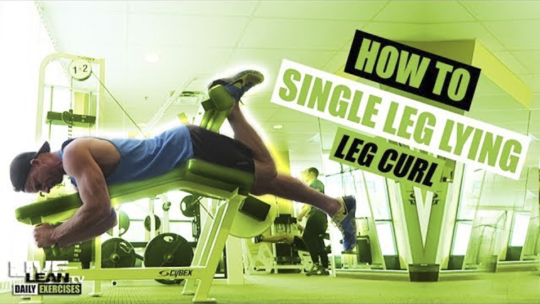 How To Do A SINGLE LEG LYING LEG CURL | Exercise Demonstration Video and Guide