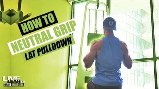 How To Do A NEUTRAL GRIP LAT PULLDOWN | Exercise Demonstration Video and Guide