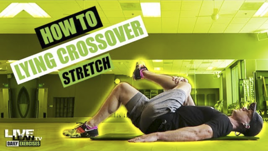 How To Do A LYING CROSSOVER STRETCH | Exercise Demonstration Video and Guide