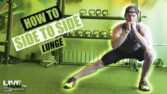 How To Do A SIDE TO SIDE LUNGE | Exercise Demonstration Video and Guide