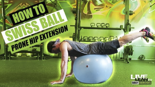 How To Do A SWISS BALL PRONE HIP EXTENSION   Exercise Demonstration Video and Guide