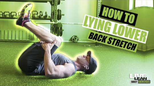 How To Do A LYING LOWER BACK STRETCH | Exercise Demonstration Video and Guide