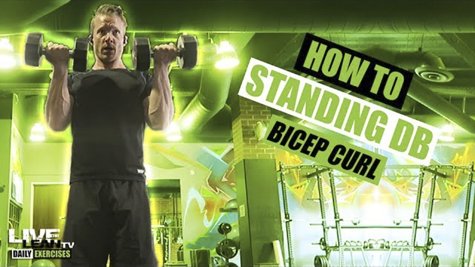 How To Do A STANDING DUMBBELL BICEP CURL | Exercise Demonstration Video and Guide