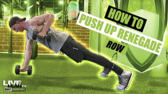 How To Do A PUSH UP RENEGADE ROW   Exercise Demonstration Video and Guide
