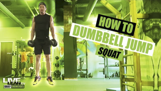 How To Do A DUMBBELL JUMP SQUAT | Exercise Demonstration Video and Guide