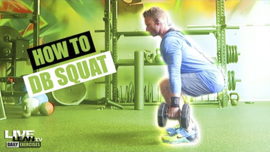 How To Do A DUMBBELL SQUAT | Exercise Demonstration Video and Guide