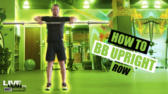 How To Do A BARBELL UPRIGHT ROW | Exercise Demonstration Video and Guide