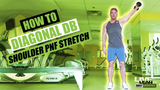 How To Do A DIAGONAL DUMBBELL SHOULDER PNF STRETCH | Exercise Demonstration Video and Guide