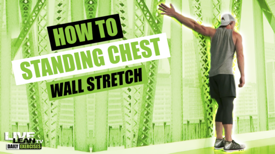 How To Do A STANDING CHEST WALL STRETCH | Exercise Demonstration Video and Guide