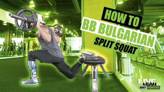 How To Do A BARBELL BULGARIAN SPLIT SQUAT | Exercise Demonstration Video and Guide