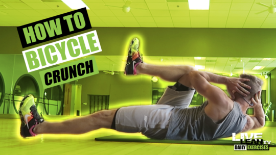 How To Do A BICYCLE CRUNCH | Exercise Demonstration Video and Guide