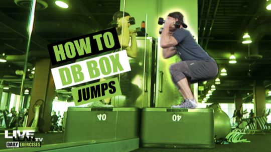 How To Do DUMBBELL BOX JUMPS | Exercise Demonstration Video and Guide