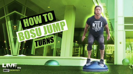 How To Do BOSU JUMP TURNS | Exercise Demonstration Video and Guide