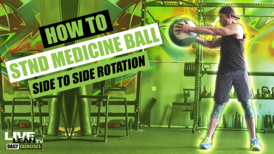 How To Do A STANDING MEDICINE BALL SIDE TO SIDE ROTATION | Exercise Demonstration Video and Guide