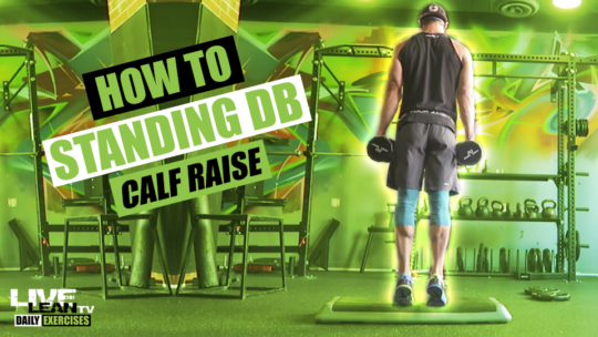 How To Do A STANDING DUMBBELL CALF RAISE | Exercise Demonstration Video and Guide