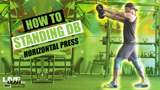 How To Do A STANDING DUMBBELL HORIZONTAL PRESS | Exercise Demonstration Video and Guide