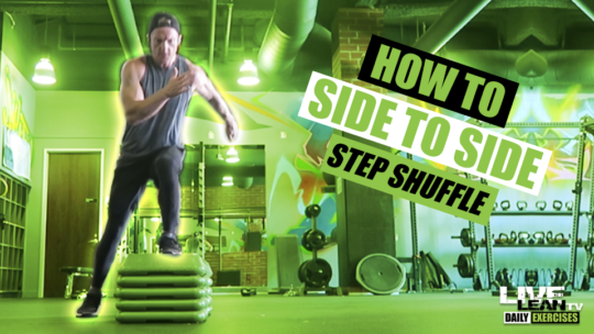 How To Do A SIDE TO SIDE STEP SHUFFLE | Exercise Demonstration Video and Guide
