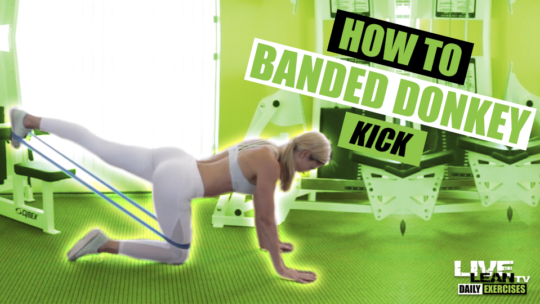 BANDED DONKEY KICK | Exercise Demonstration Video and Guide