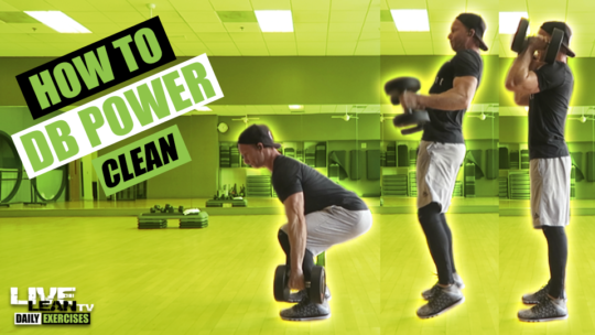 How To Do A DUMBBELL POWER CLEAN | Exercise Demonstration Video and Guide