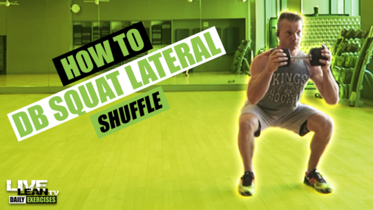 How To Do A DUMBBELL SQUAT LATERAL SHUFFLE | Exercise Demonstration Video and Guide