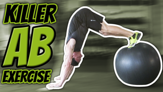 How To Do A SWISS BALL PIKE ROLLOUT [Strengthen Your Core]