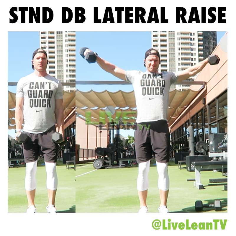 STANDING Dumbbell LATERAL RAISE
