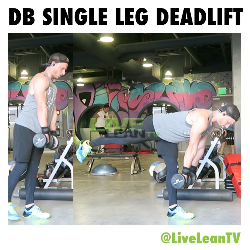 DUMBBELL SINGLE LEG DEADLIFT