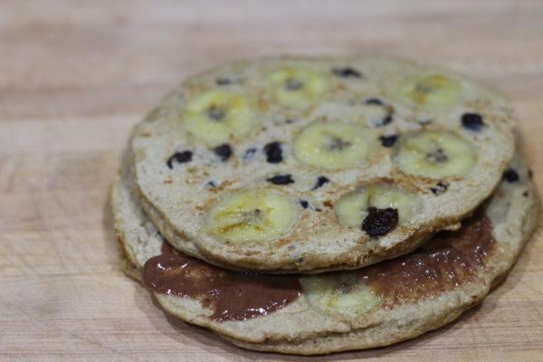 banana raisin muscle building protein pancakes