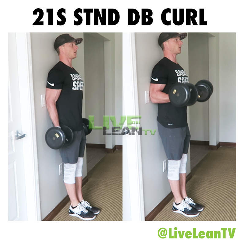 21S STANDING Dumbbell CURL