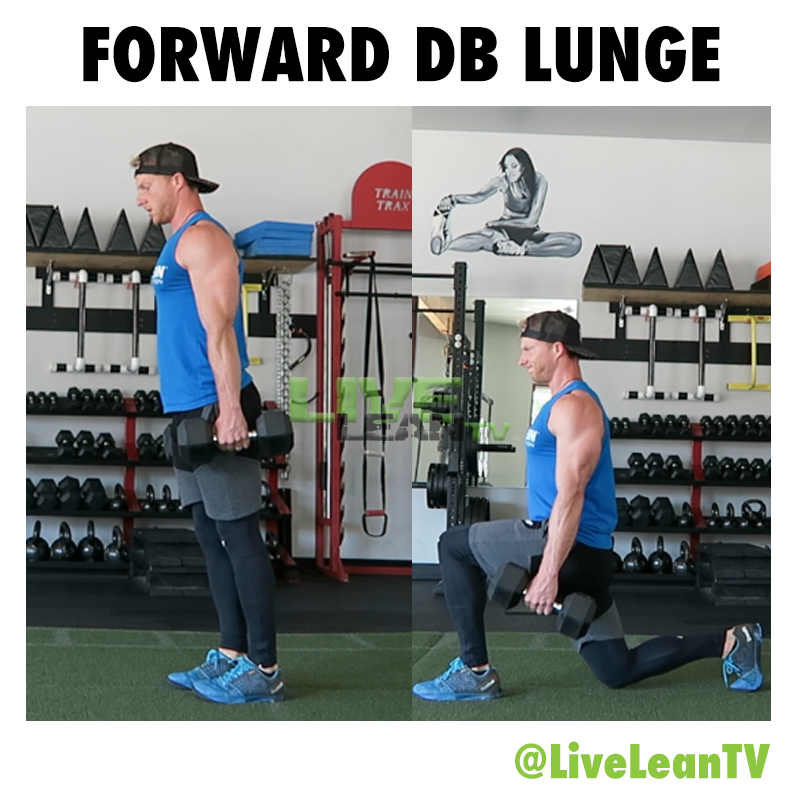 FORWARD DUMBBELL LUNGE