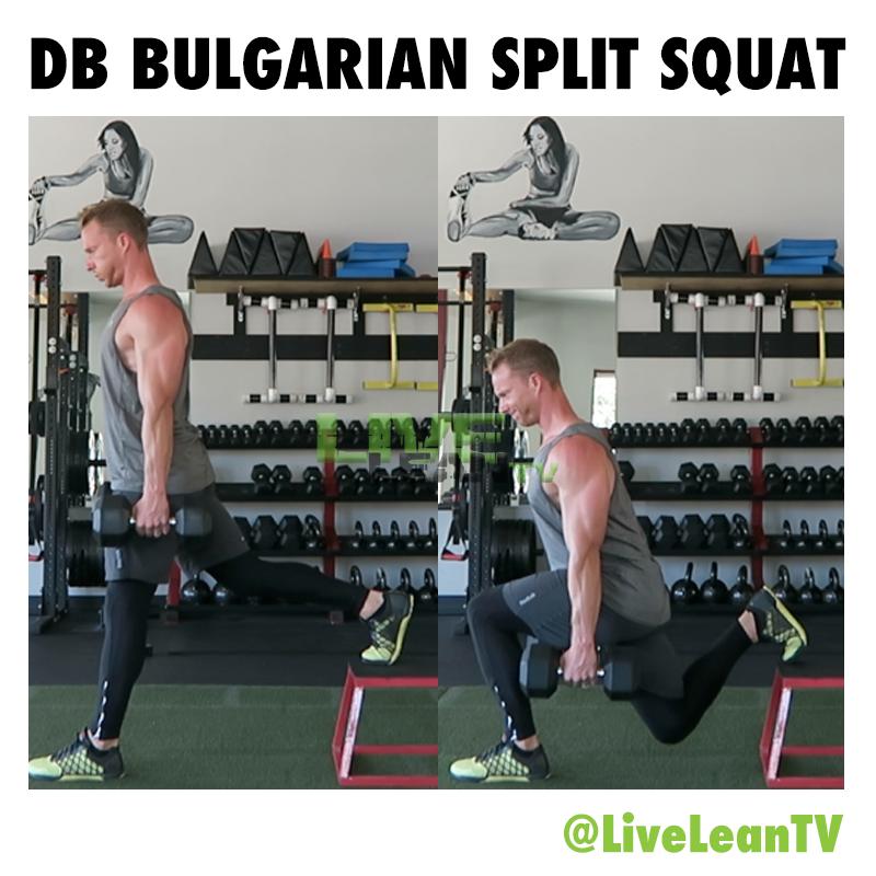 Dumbbell BULGARIAN SPLIT SQUAT