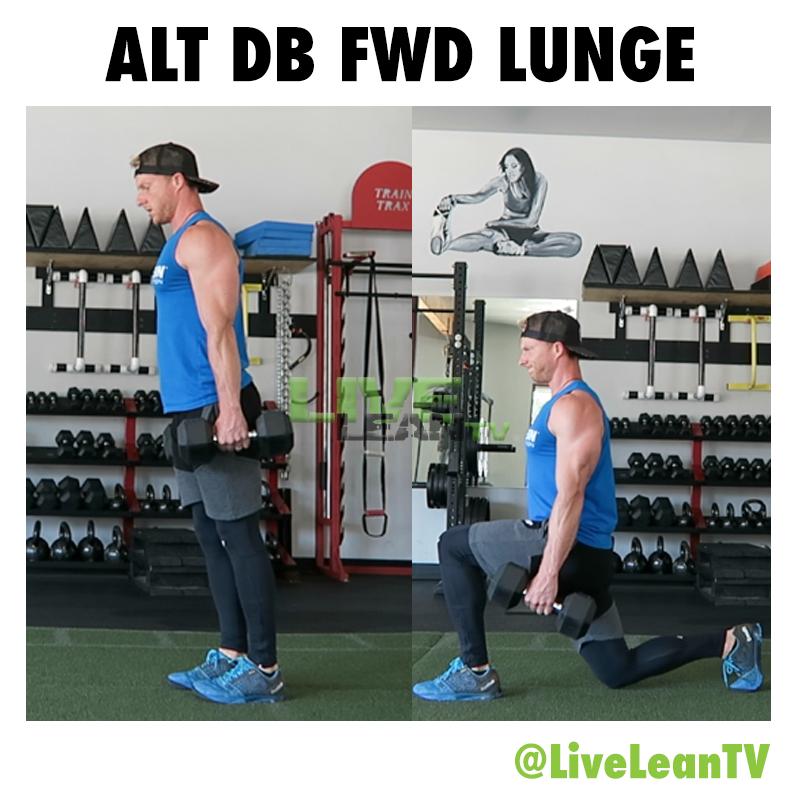 Alternating Dumbbell Forward Lunge