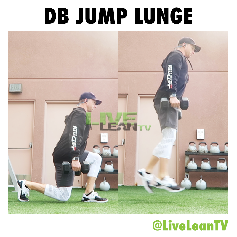 DUMBBELL JUMP LUNGE