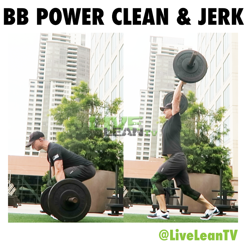 BARBELL POWER CLEAN AND JERK